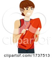 Teen Boy Job Lifeguard Illustration