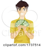 Teen Boy Job Money Illustration
