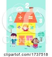 Kids Math House Illustration