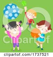02/23/2021 - Kids Catching Balls Illustration