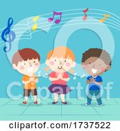 Kids Clapping Beat Music Illustration