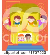 02/23/2021 - Kids Play In Person Face Illustration