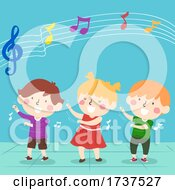 Kids Swaying Beat Music Illustration