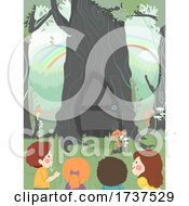 02/23/2021 - Kids Curious Tree Door Woodland Illustration