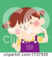 02/23/2021 - Kid Girl Pinching Cheek Illustration