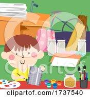 02/23/2021 - Kid Art Scrap Materials Upcycle Illustration