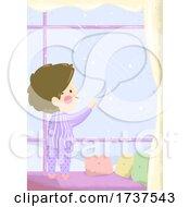 02/23/2021 - Kid Boy Write Speech Bubble Window Illustration