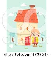 02/23/2021 - Kid Girl My House Door Illustration