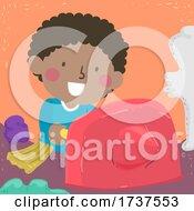 02/23/2021 - Kid Boy Poking Clay Sensory Illustration