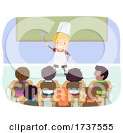 02/23/2021 - Kid Boy Chef Dream Job Career Day Illustration
