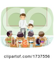 Poster, Art Print Of Kid Boy Dad Chef Job Career Day Illustration