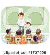 02/23/2021 - Kid Boy Dad Chef Job Career Day Illustration