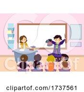 Stickman Kids Classroom Magic Illustration