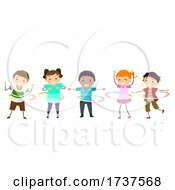 Poster, Art Print Of Stickman Kids Hula Hoop Illustration