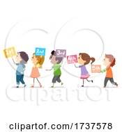 Poster, Art Print Of Stickman Kids Number Sequence Illustration