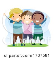 Poster, Art Print Of Stickman Kids Boys Social Skills Illustration
