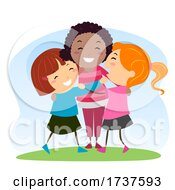 Poster, Art Print Of Stickman Kids Girls Social Skills Illustration
