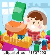 02/23/2021 - Kid Boy Building Blocks Simple Shapes Illustration