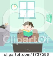 Kid Boy Early Math Experience Numbers Illustration