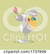 02/24/2021 - Easter Bunny Holding An Egg