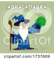 02/24/2021 - Wizard Casting A Spell With Text On Green