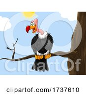 02/24/2021 - Condor Or Vulture On A Branch Against Sky