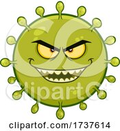 Grinning Evil Green Germ by Hit Toon