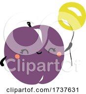 02/24/2021 - Cute Plum With A Balloon