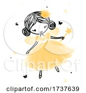 Poster, Art Print Of Forest Fairy With A Magic Wand