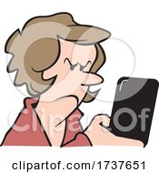 Woman Reading Or Sending An Angry Text Message