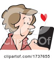 Woman Reading Or Sending A Loving Text Message