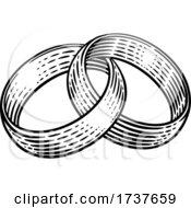 Wedding Ring BandsVintage Woodcut Illustration