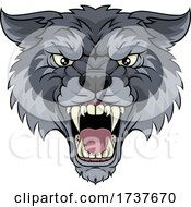 Poster, Art Print Of Wolf Or Werewolf Monster Scary Dog Angry Mascot