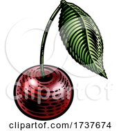 02/25/2021 - Cherry Berry Fruit Vintage Woodcut Illustration