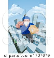 02/25/2021 - Delivery Courier Superhero Flying Super Hero