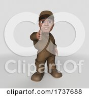 3D Delivery Man On A White Background