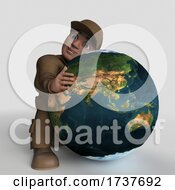 Poster, Art Print Of 3d Cartoon Delivery Driver