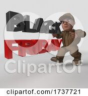 3D Delivery Man On A White Background by KJ Pargeter