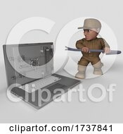 Poster, Art Print Of 3d Delivery Man On A White Background