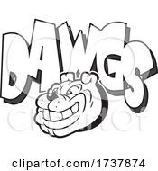 Bulldog Sports Team School Mascot And DAWGS Black And White