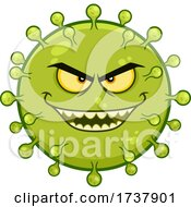Evil Green Virus Character by Hit Toon