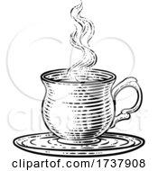 02/27/2021 - Coffee Tea Cup Hot Drink Mug Vintage Retro Etching