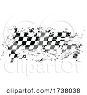 Checkered Racing Flag With Grunge