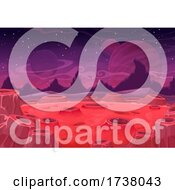 Crater Foreign Planet Background
