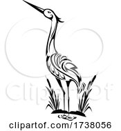 Black and White Heron by Vector Tradition SM #COLLC1738056-0169