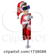 03/01/2021 - 3d White Male Super Hero Christmas Santa On A White Background