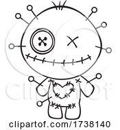 Cartoon Black And White Voodoo Doll