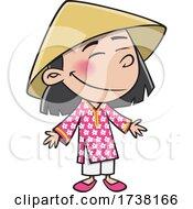 Cartoon Viatnamese Girl