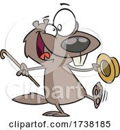 Cartoon Dancing Groundhog