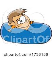 Cartoon Boy Relaxing In A Bean Bag
